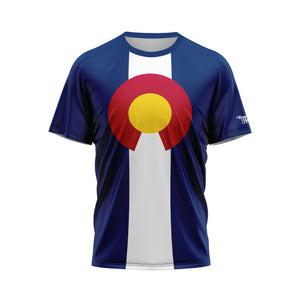 Colorado Flag Performance Tee