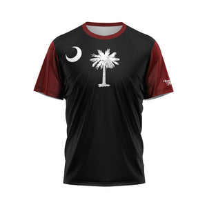 Black-Garnet South Carolina Flag Performance Tee