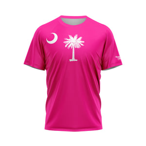 Fluorescent Pink South Carolina Flag Performance Tee