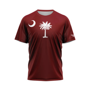 Garnet South Carolina Flag Performance Tee