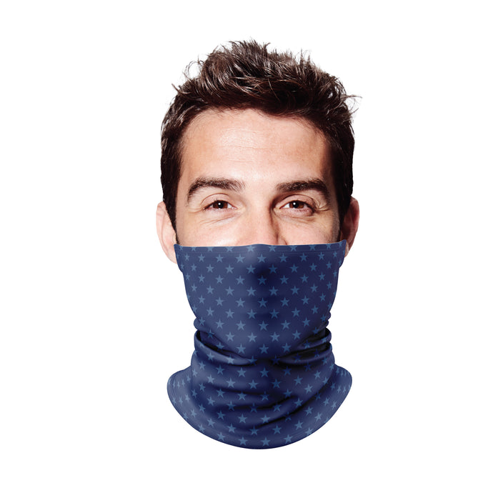 Blue Stars Gaiter Face Mask