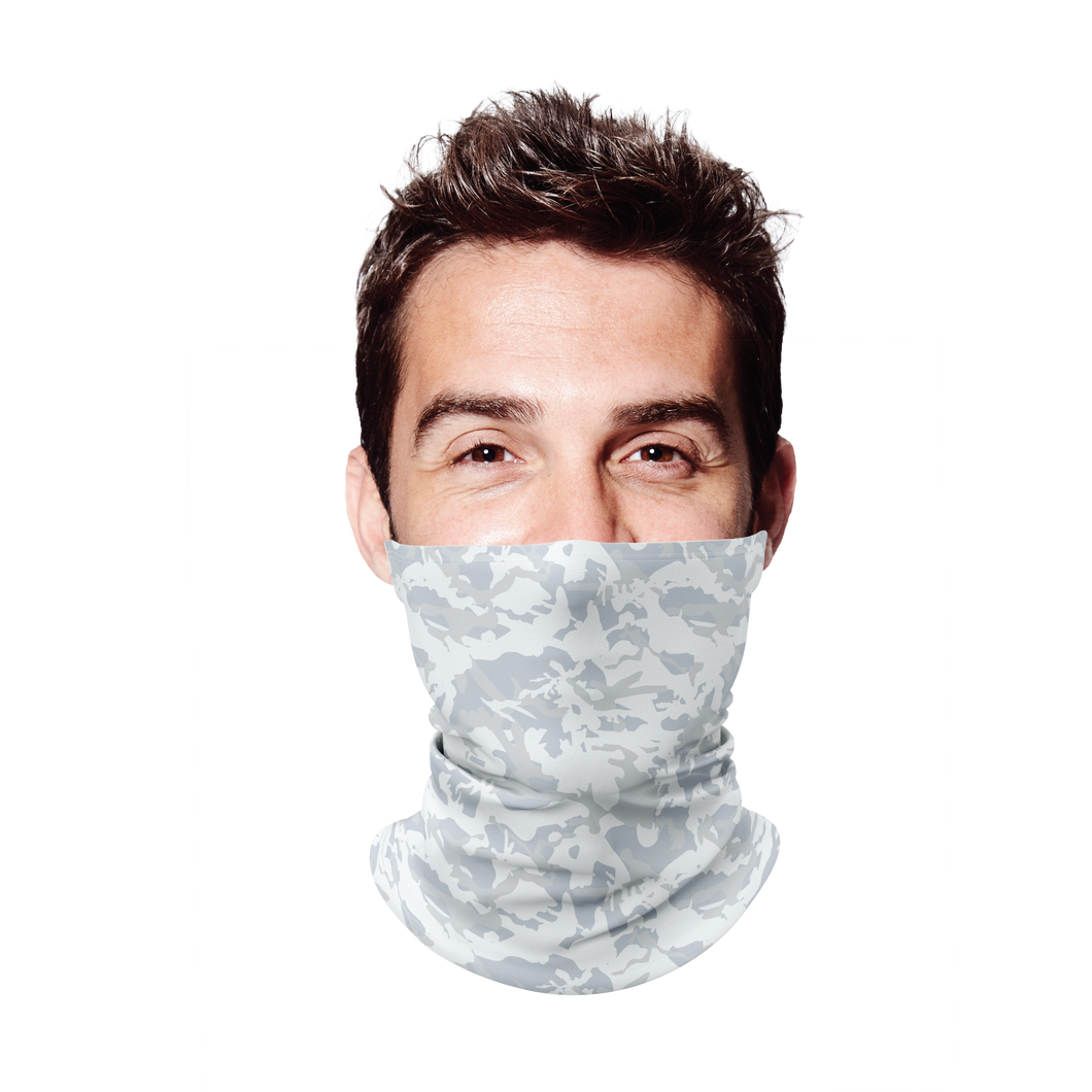 White Camo 11 Gaiter Face Mask
