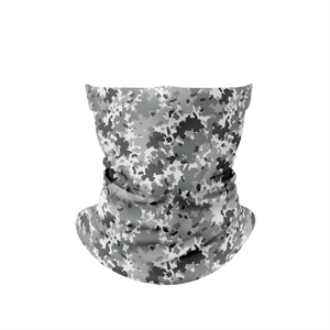 White Grey Camo 15 Gaiter Face Mask
