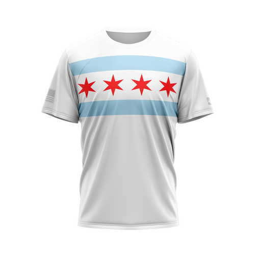 Chicago Flag Performance Tee