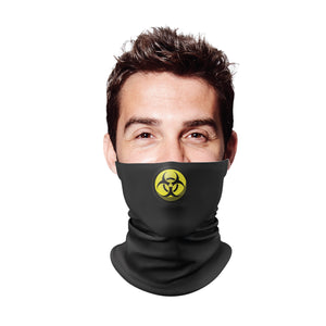 Hazard Black Gaiter Face Mask