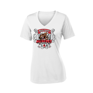 Muddogs Ladies Dry-Fit V Neck Tee Shirt