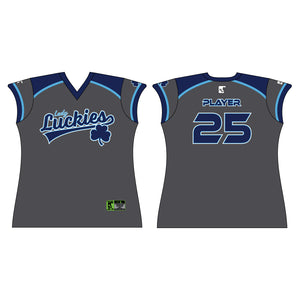Lady Luckies Charcoal Jersey