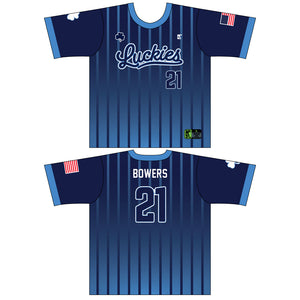Luckies Navy Pinstripes Jersey