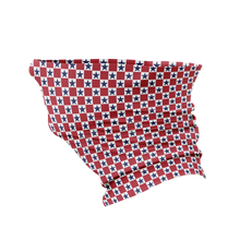 Red White And Blue Checkered Gaiter Face Mask