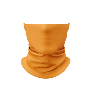 Fluorescent Safety Orange Gaiter Face Mask
