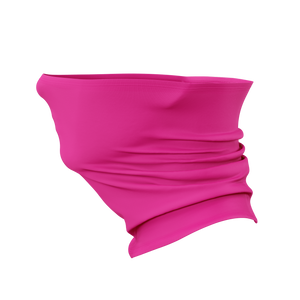 Fluorescent Safety Pink Gaiter Face Mask