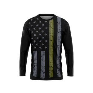 Thin Green Line Long Sleeve Performance Tee