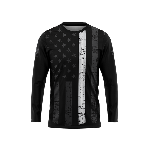 Thin White Line Long Sleeve Performance Tee