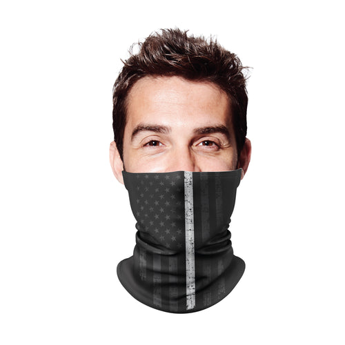 Thin White Line Gaiter Mask