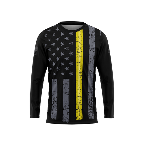 Thin Yellow Line Long Sleeve Performance Tee