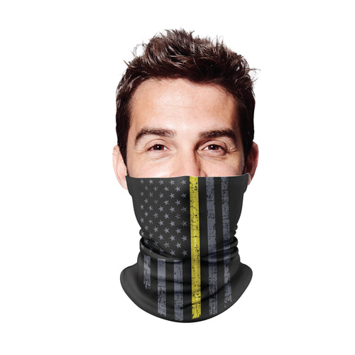 Thin Yellow Line Gaiter Face Mask