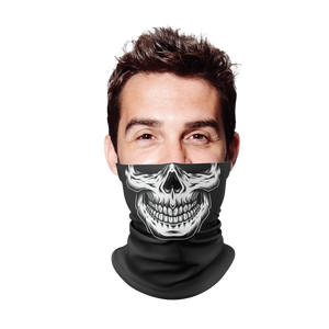 White Skull Gaiter Face Mask