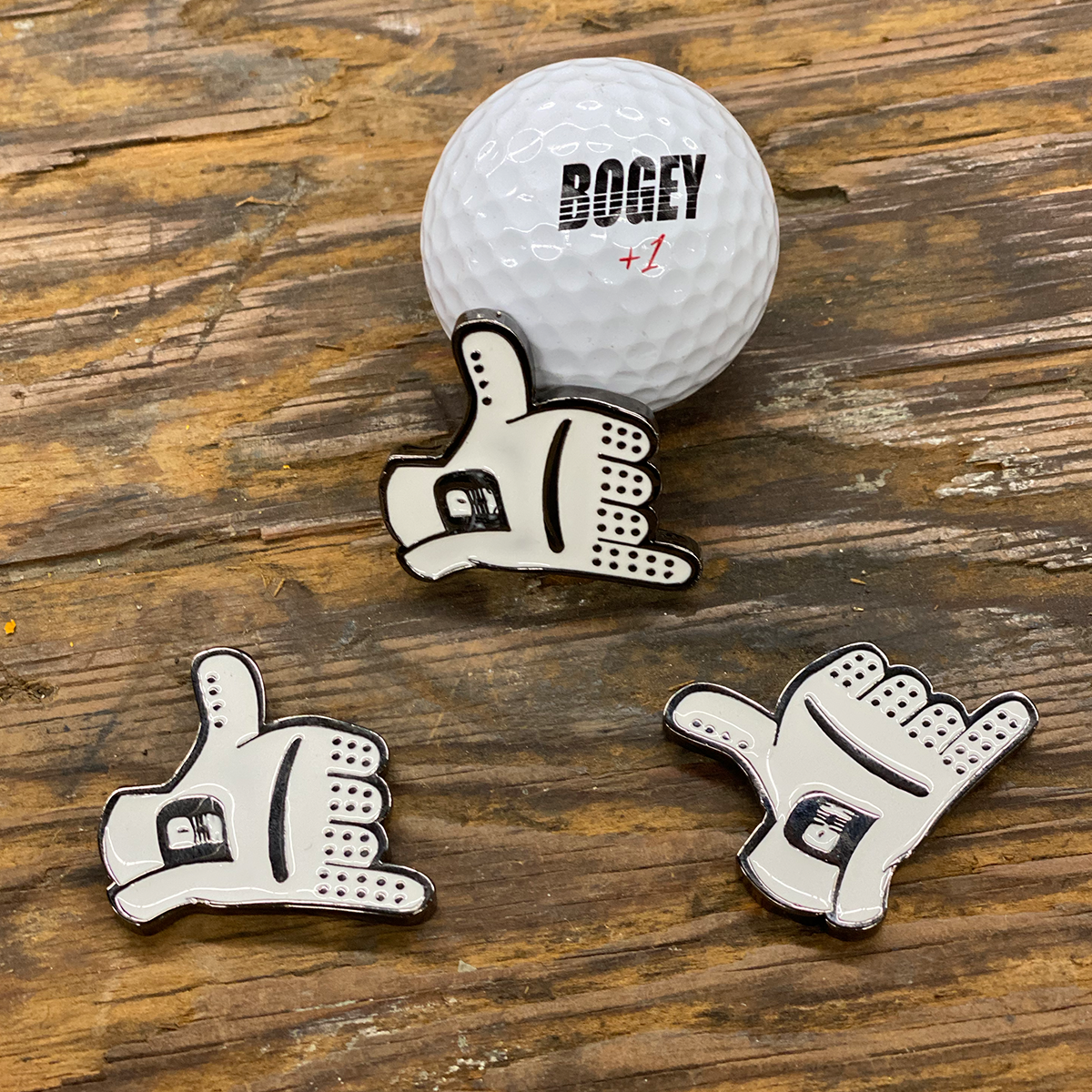 Shaka Golf Glove Ball Marker
