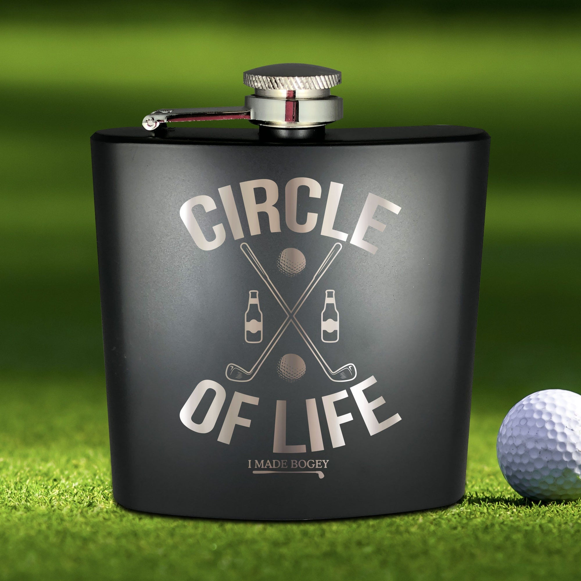 Golf Beer Crest Flask