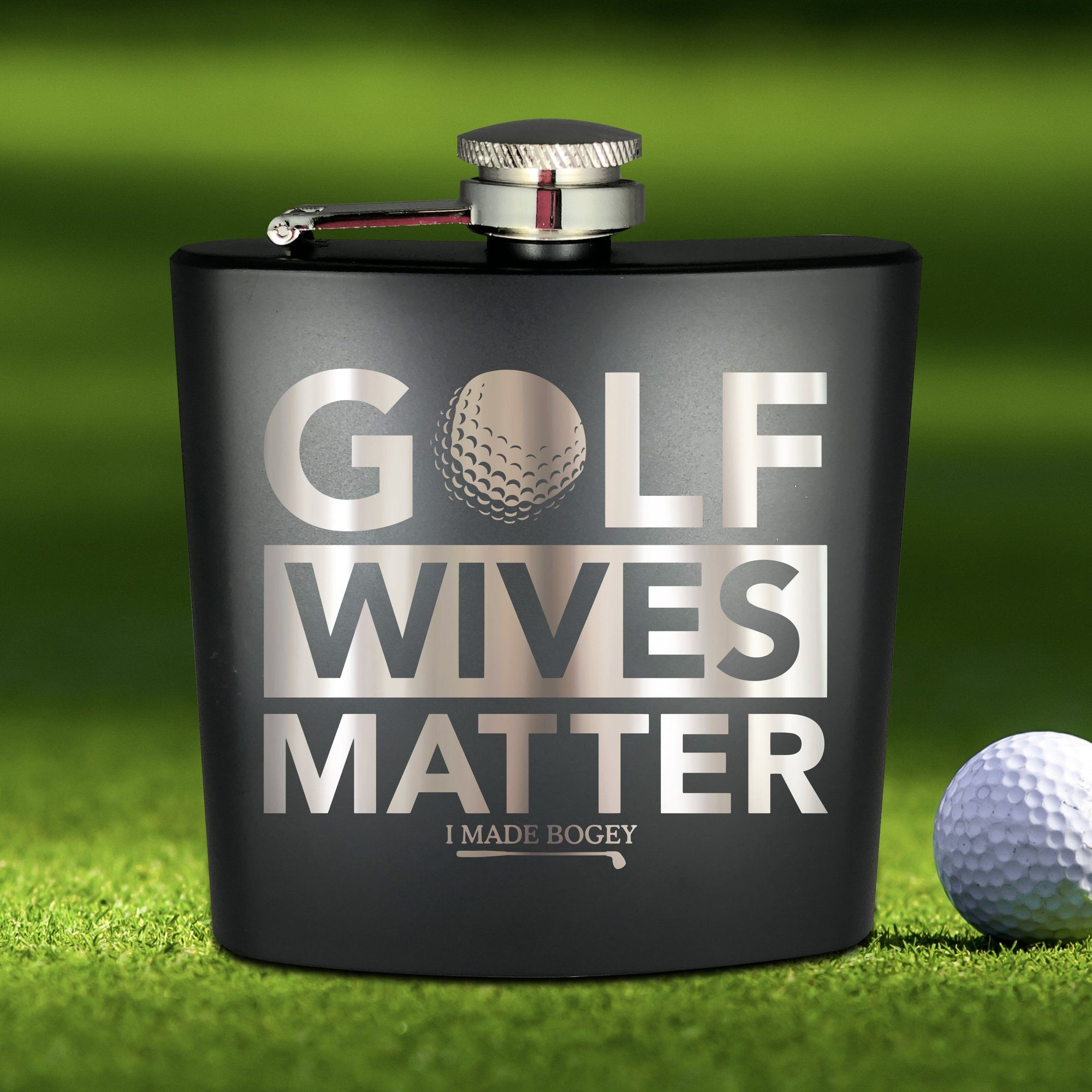 Golf Wives Matter Flask