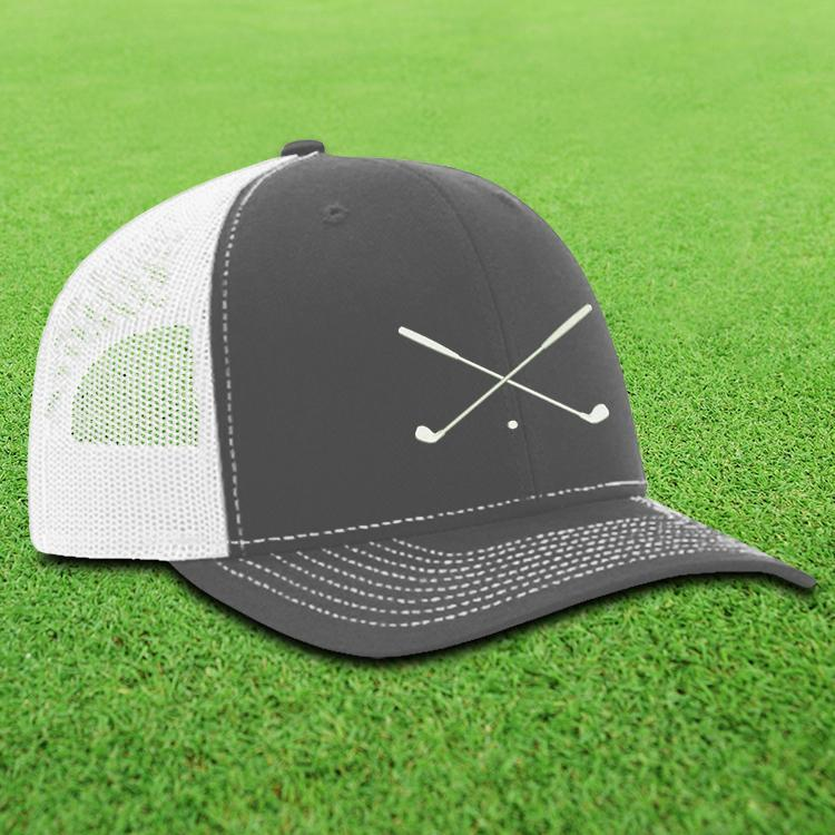 89a2d2cb26d Crossed Golf Clubs Trucker Hat - I Made Bogey