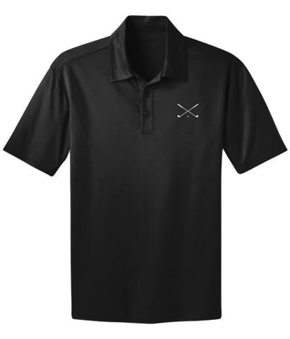 Crossed Golf Clubs Embroidered Dri-Fit Polo