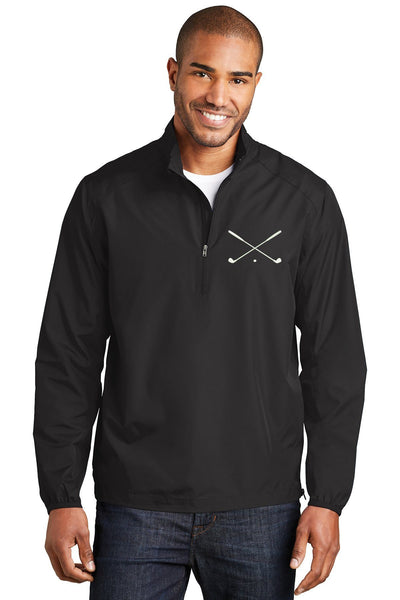 Crossed Golf Clubs 1/2 Zip Pullover