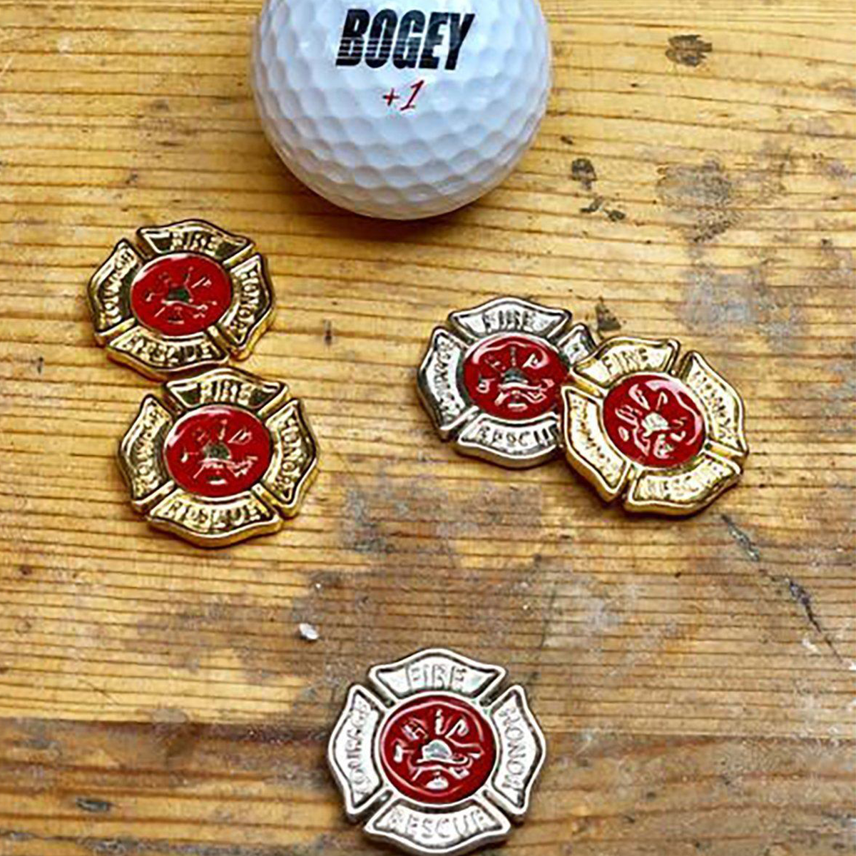 Firefighter Shield Ball Marker