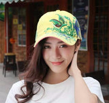 Butterfly embroidery baseball cap