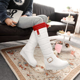 Slip on platform snow boots with inner plush fur (2 colorways)