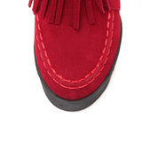 Suede leather ladies short boots with tassels (4 colorways)