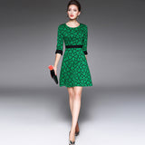 Half sleeves ladies temperament slim dress