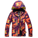 Modern abstract pattern snowboard and ski jacket