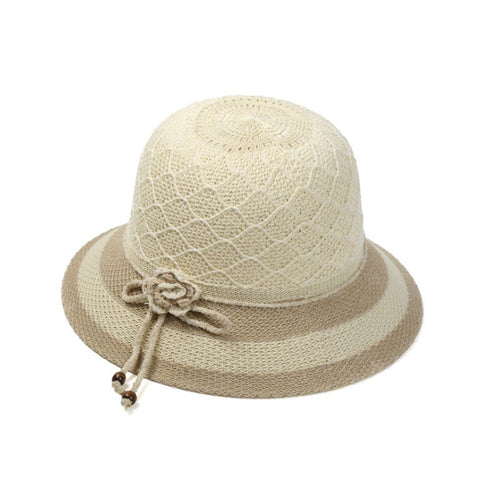 Vintage ladies Summer fedora straw hat