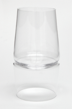 Kiss White Wine Glass