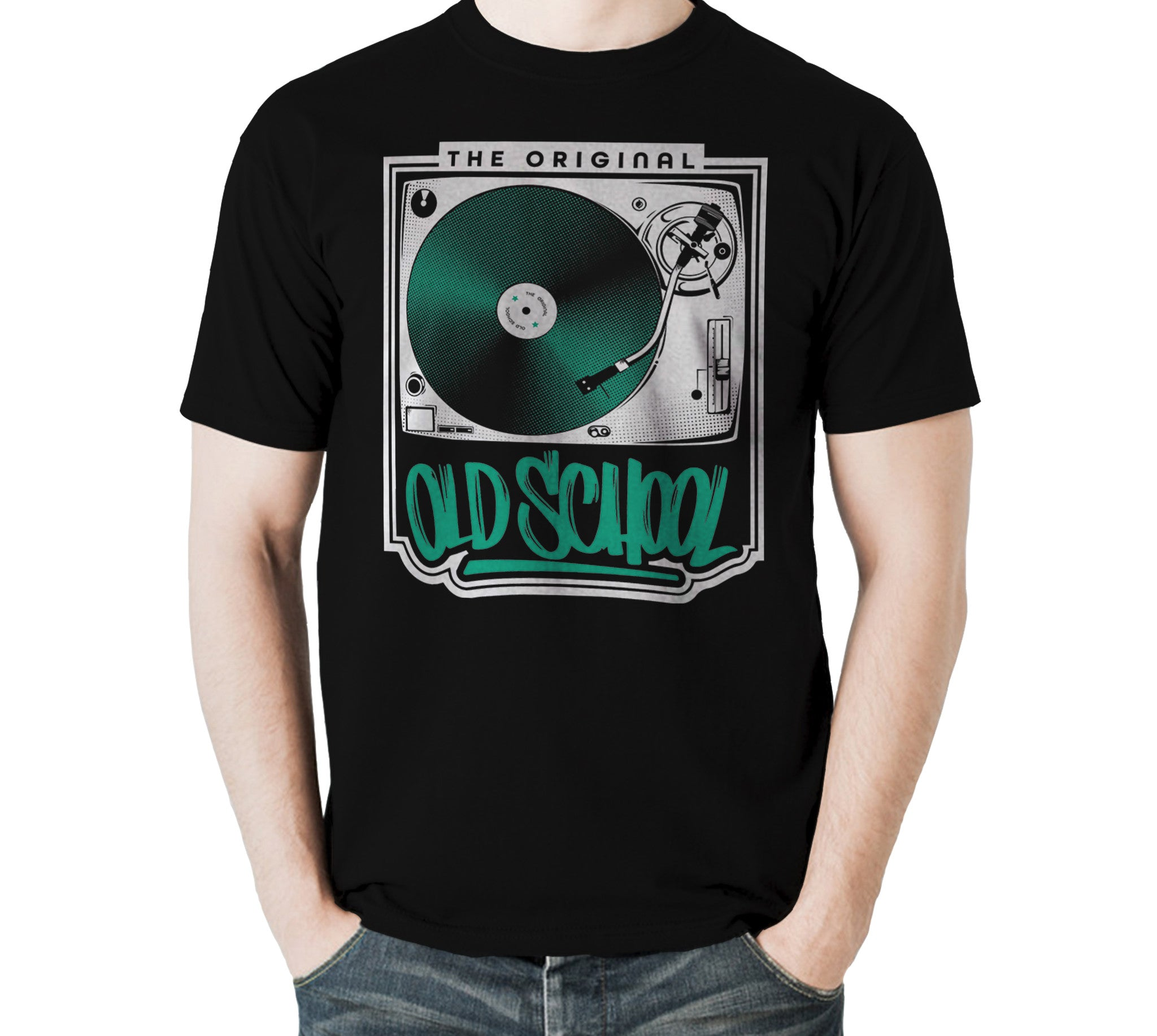 The Original Old School T-shirt - Vinyl Clothing Co - DJ Apparel Clothing Disc Jockey Vinyl Gear