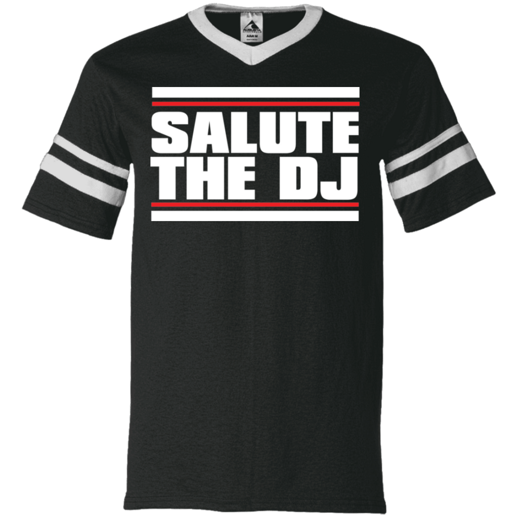 Salute The DJ V-Neck Sleeve Stripe Jersey