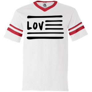 Love Nation 360 Augusta V-Neck Sleeve Stripe Jersey