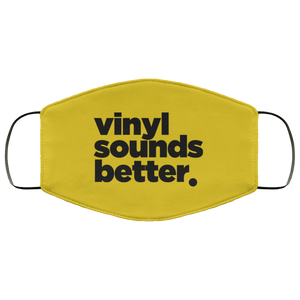 Vinyl Sounds Better Face Mask (Blk)