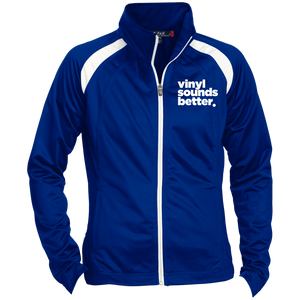 Vinyl Sounds Better Sport-Tek Ladies' Raglan Sleeve Warmup Jacket