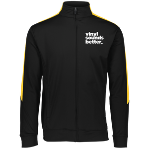 Vinyl Sounds Better Augusta Youth Performance Colorblock Full Zip