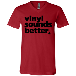 Vinyl Sounds Better Unisex Jersey SS V-Neck T-Shirt