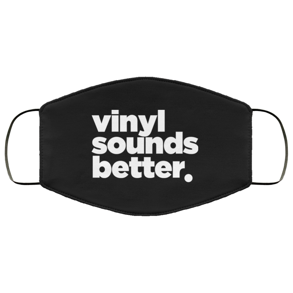 Vinyl Sounds Better Face Mask (Wht)