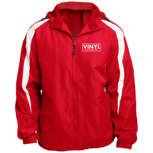 Vinyl Sport-Tek Fleece Lined Colorblocked Hooded Jacket - Vinyl Clothing Co - DJ Apparel Clothing Disc Jockey Vinyl Gear
