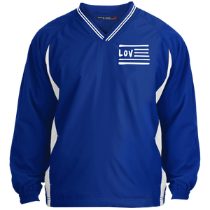 Love Nation Sport-Tek Tipped V-Neck Windshirt