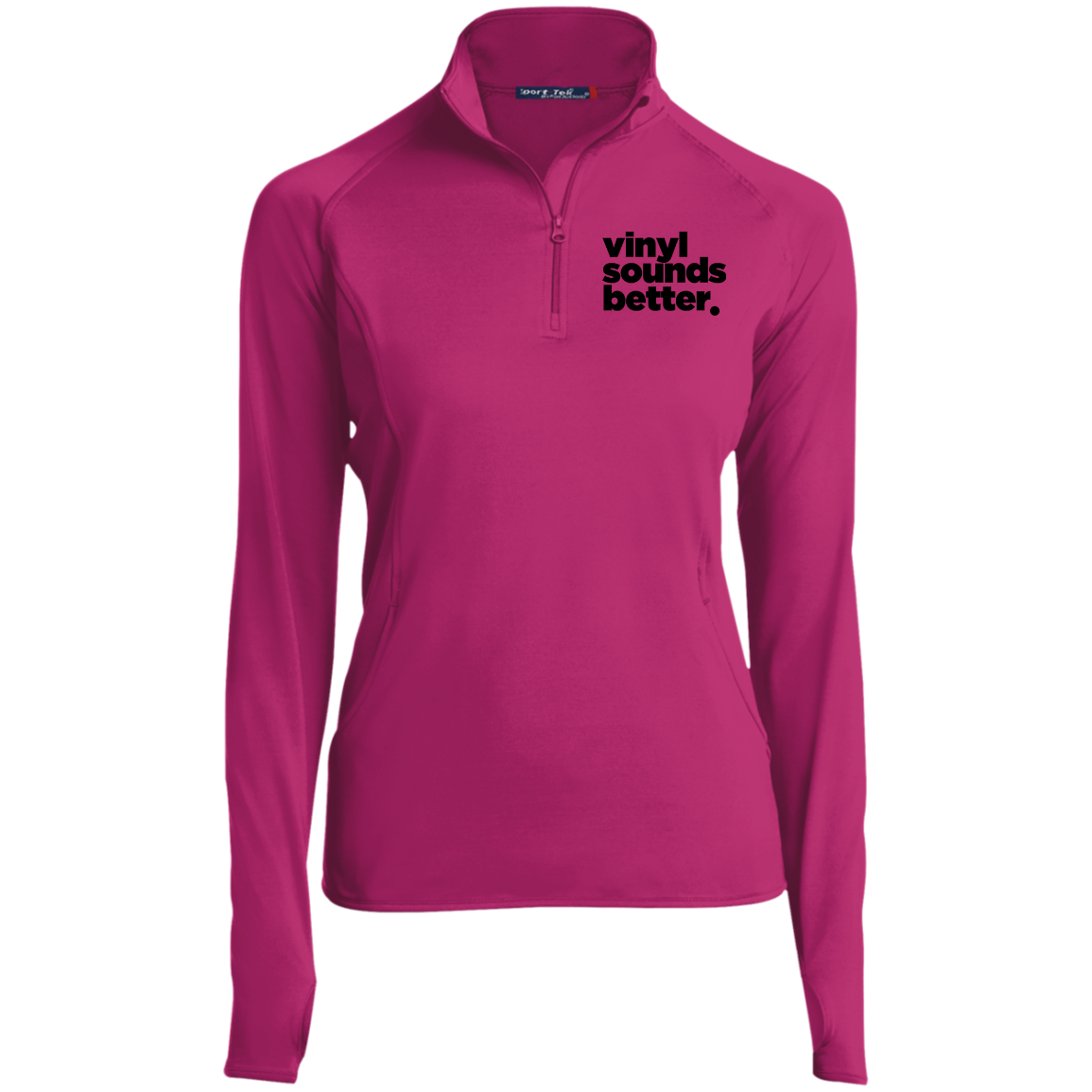 Vinyl Sounds Better Sport-Tek Women's 1/2 Zip Performance Pullover