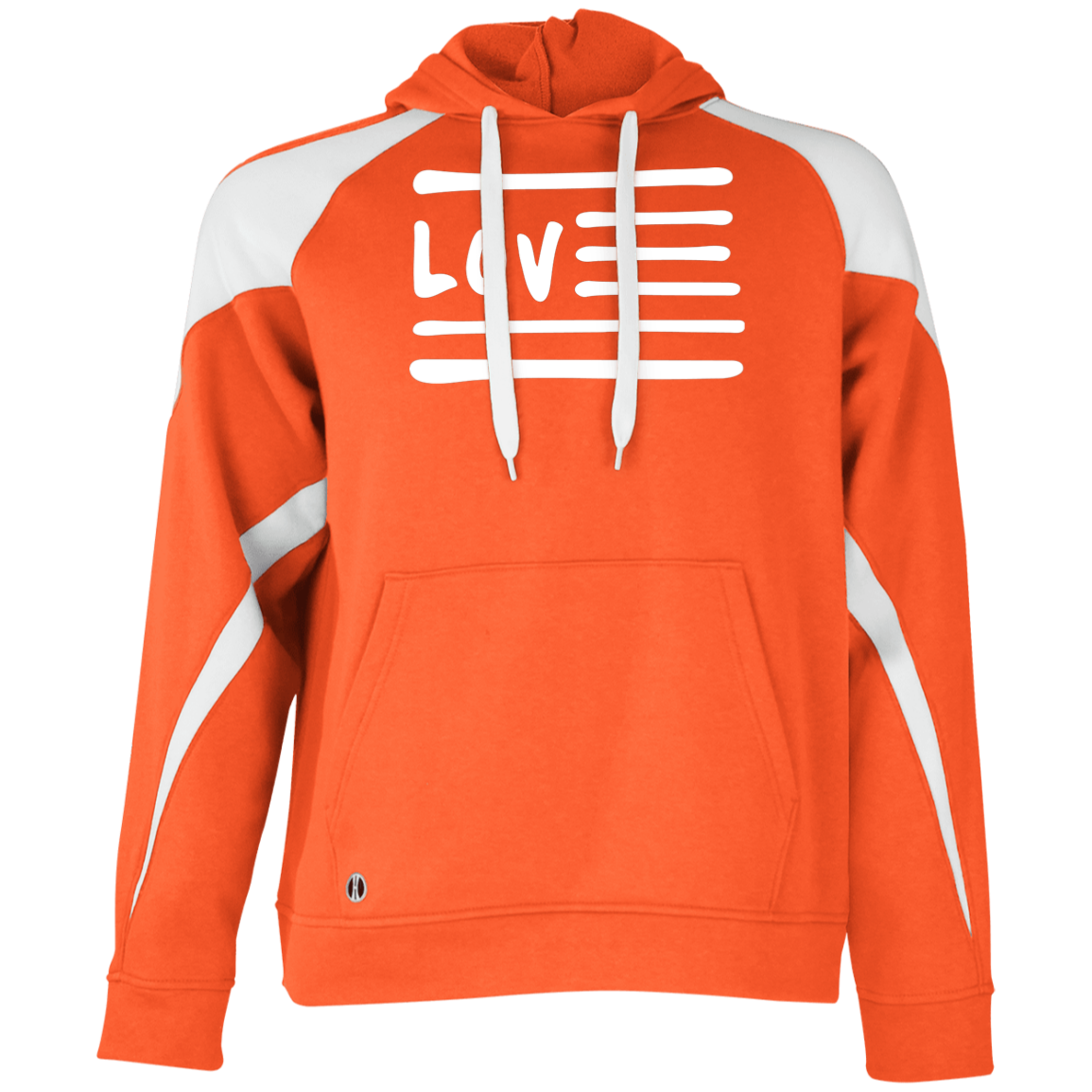 Love Nation Holloway Colorblock Hoodie - Vinyl Clothing Co - DJ Apparel Clothing Disc Jockey Vinyl Gear