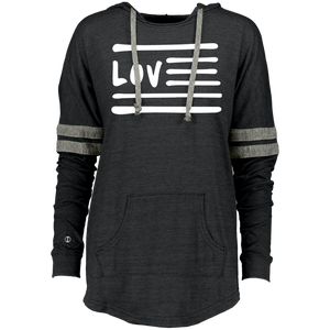 Love Nation Holloway Ladies Hooded Low Key Pullover - Vinyl Clothing Co - DJ Apparel Clothing Disc Jockey Vinyl Gear