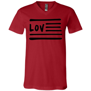 Love Nation Unisex Jersey V-Neck T-Shirt