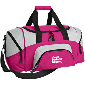 Vinyl Sounds Better Colorblock Sport Duffel
